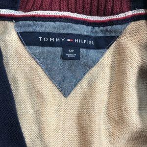 Tommy Hilfiger Sweaters - Mens Tommy Hilfiger Varsity Cardigan Sweater Sz S